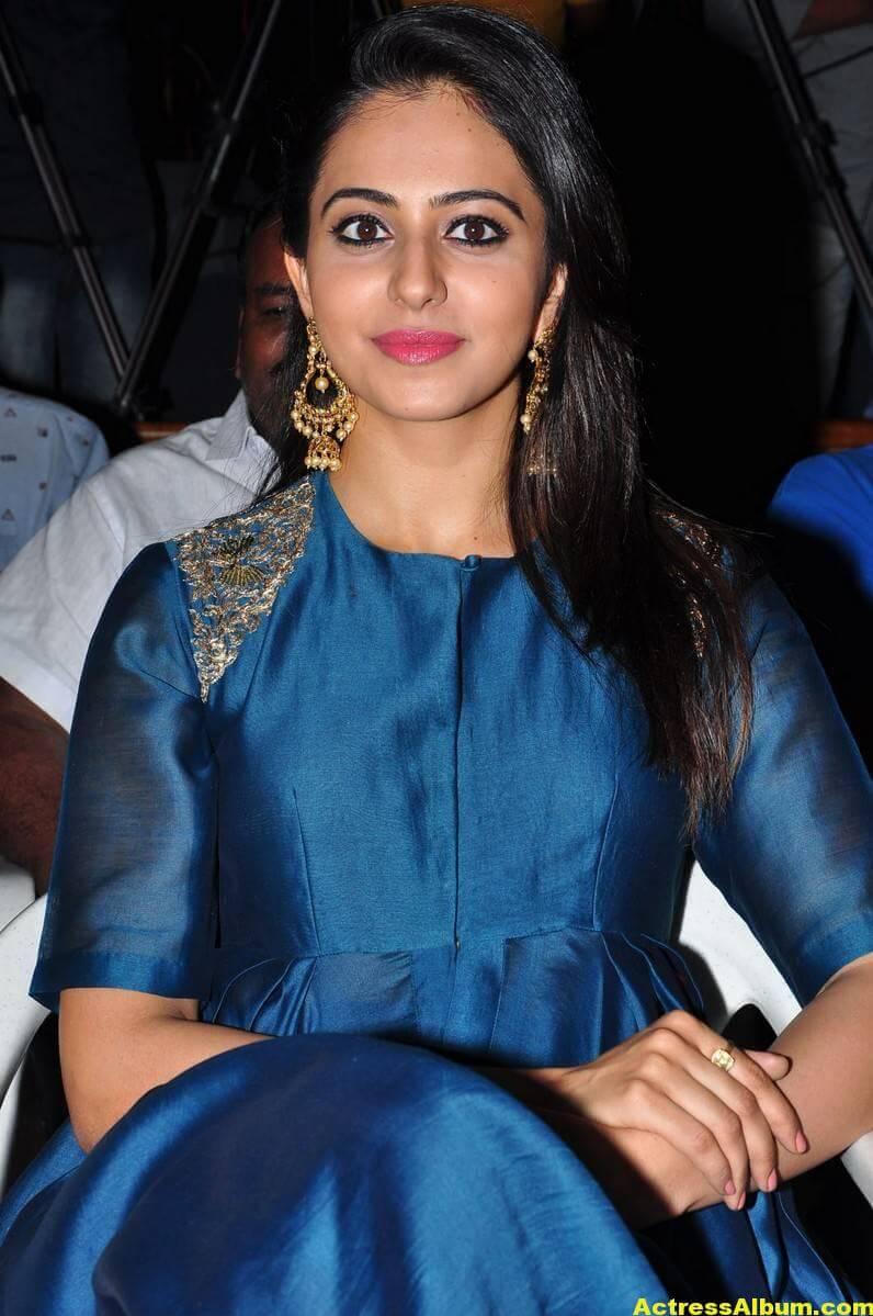 Rakul Preet Singh Looks Spicy In Colorful Blue Dress 5