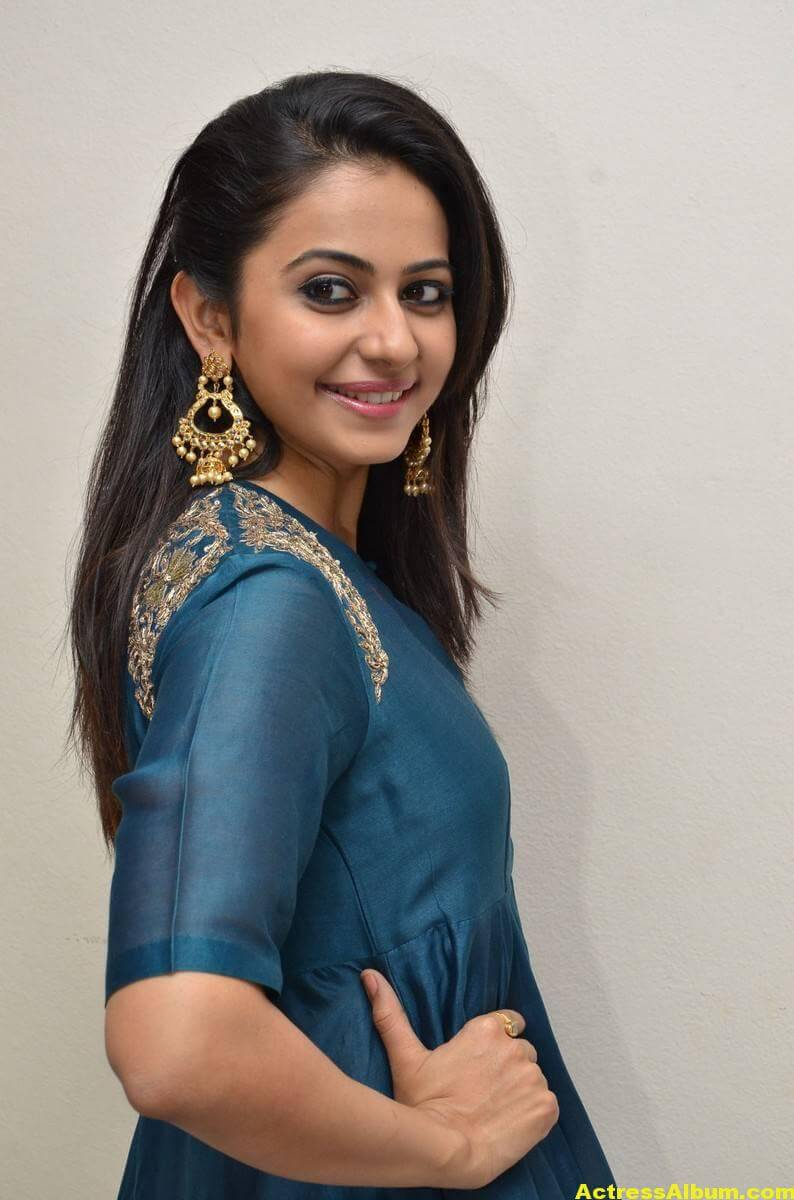 Rakul Preet Singh Looks Spicy In Colorful Blue Dress 6