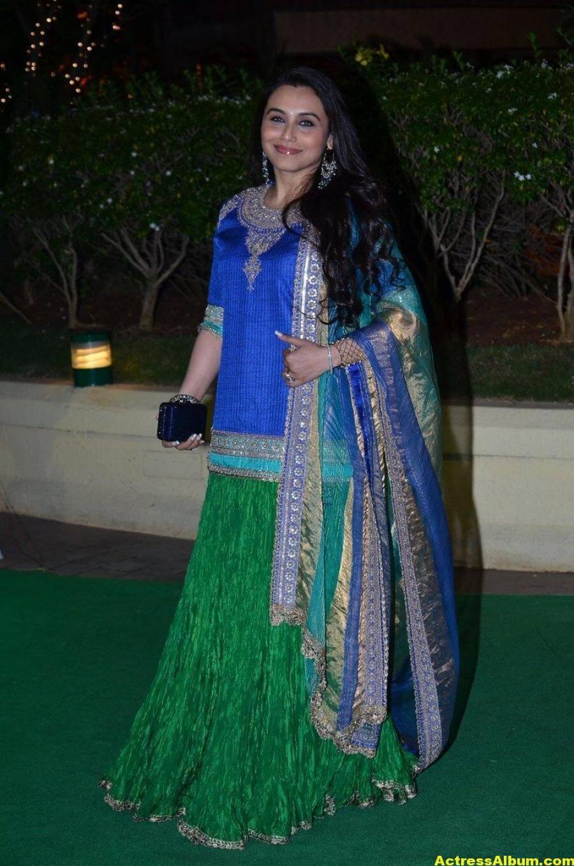 Rani Mukerji Hot Photos At Wedding Reception In Blue Dress 2
