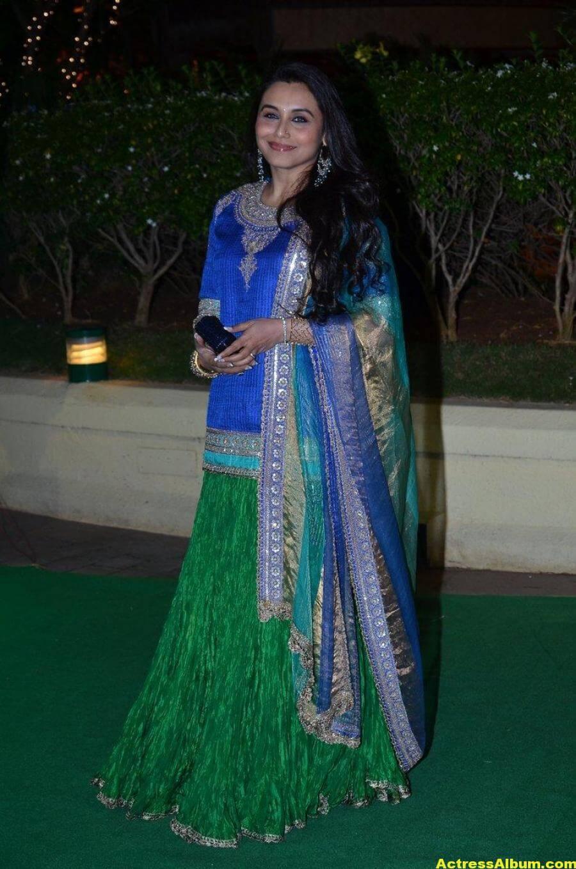 Rani Mukerji Hot Photos At Wedding Reception In Blue Dress 3
