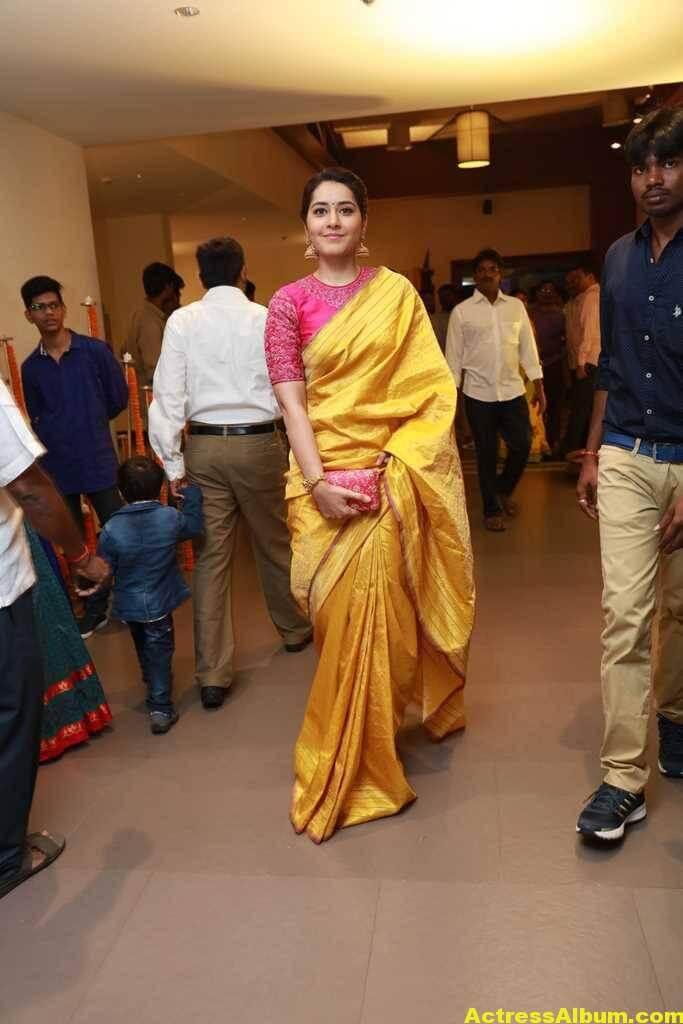 Rashi Khanna Stills At Director Krish Marriage 2
