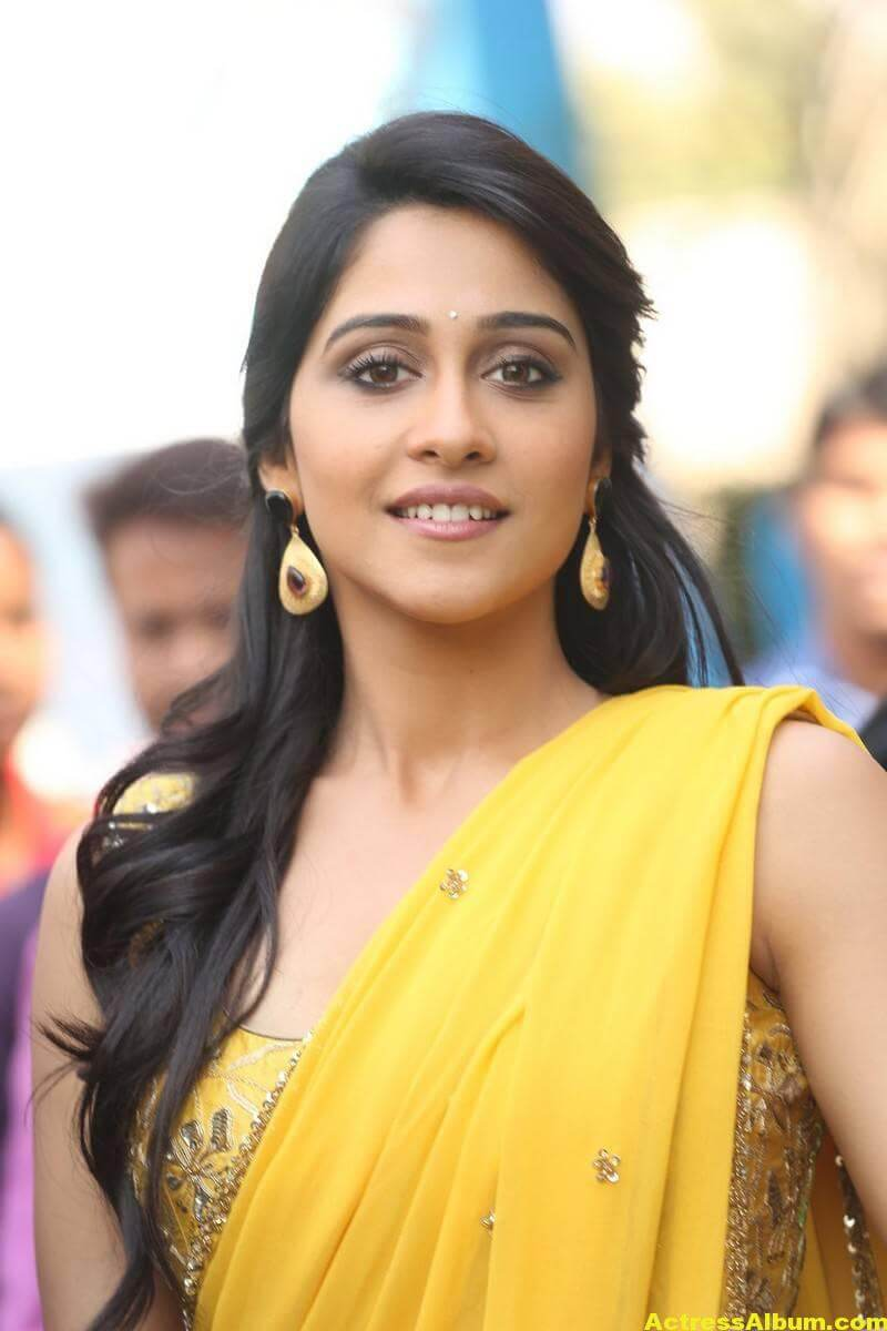 Regina Cassandra Latest Hot Stills In Yellow Saree 1