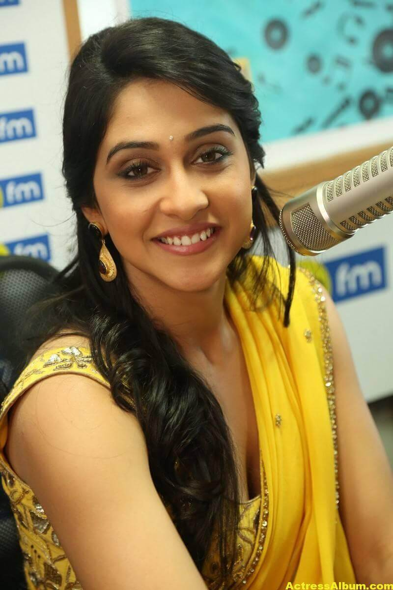 Regina Cassandra Latest Hot Stills In Yellow Saree 5
