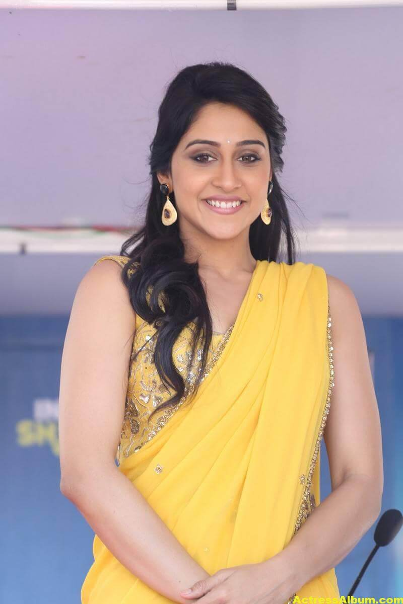 Regina Cassandra Latest Hot Stills In Yellow Saree 6