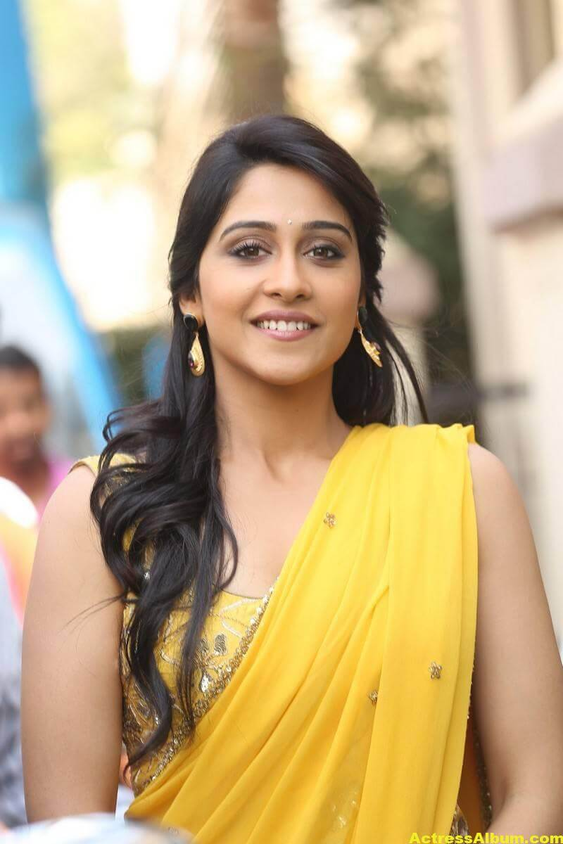 Regina Cassandra Latest Hot Stills In Yellow Saree 7