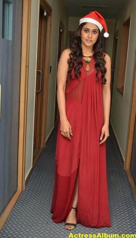 Regina Cassandra Photoshoot In Maroon Color Dress 4
