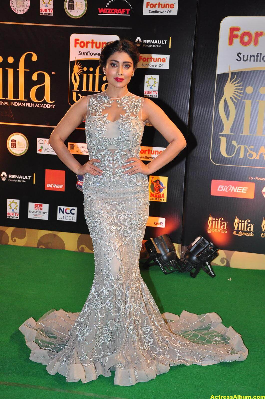 Shriya Saran Hot in IIFA Utsavam in White Dress 2