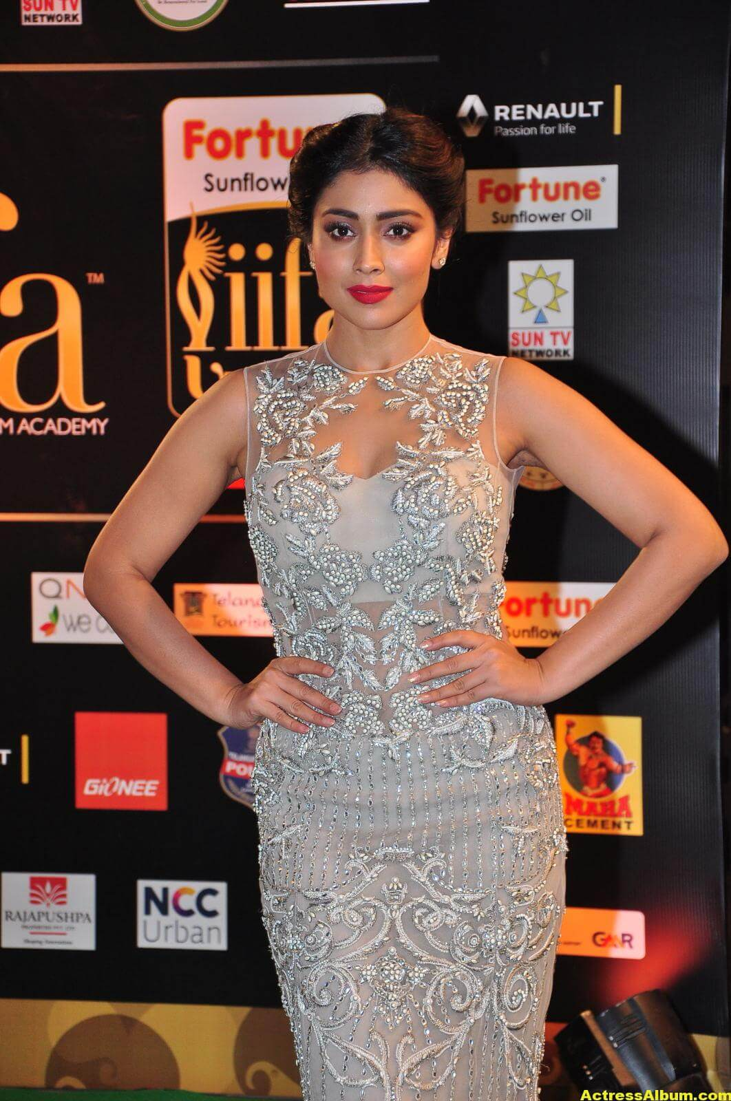 Shriya Saran Hot in IIFA Utsavam in White Dress 4