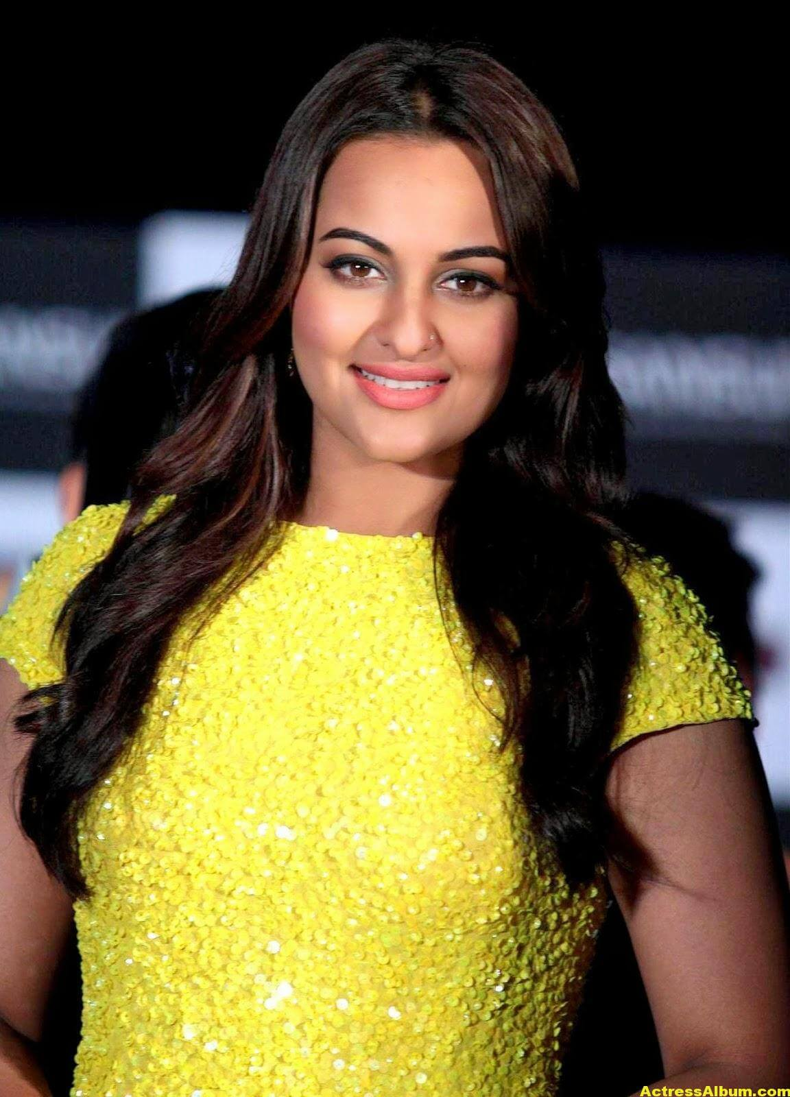 Sonakshi Sinha Spicy Stills In Yellow Dress 2