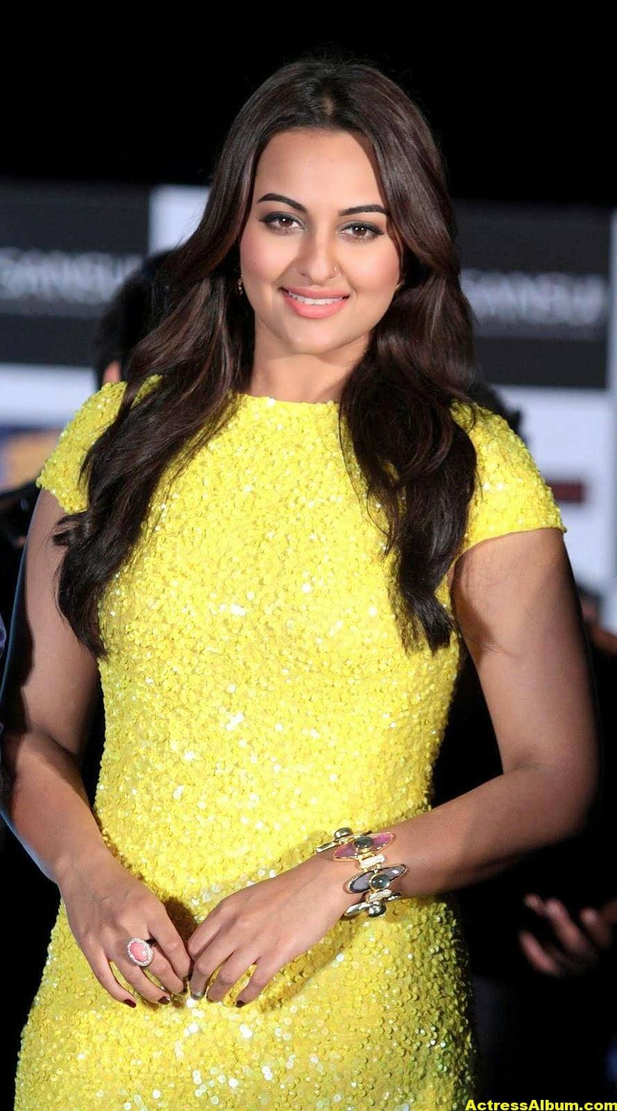 Sonakshi Sinha Spicy Stills In Yellow Dress 3