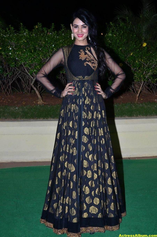 Sonal Chauhan Hot Photos At Wedding Reception In Black Dress 1