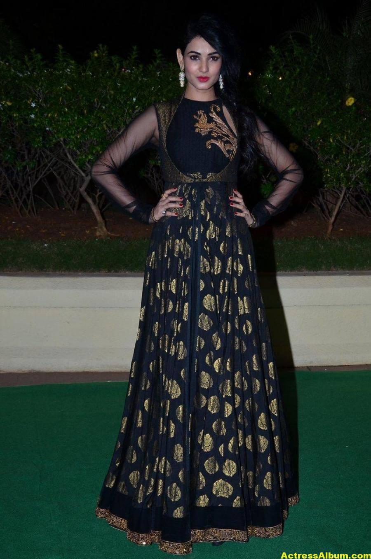 Sonal Chauhan Hot Photos At Wedding Reception In Black Dress 3