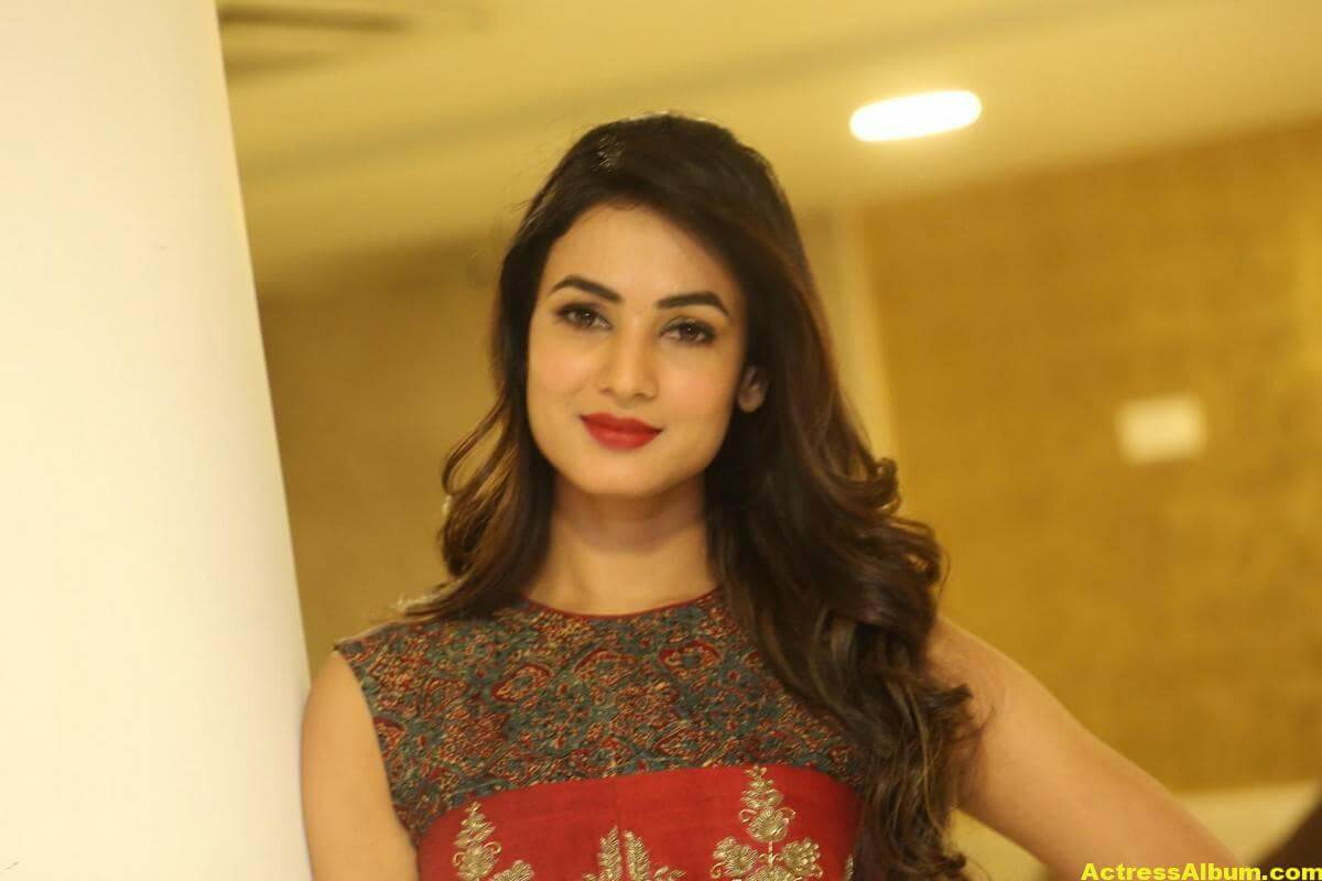 Sonal Chauhan Latest Stills In Beautiful Red Dress 10