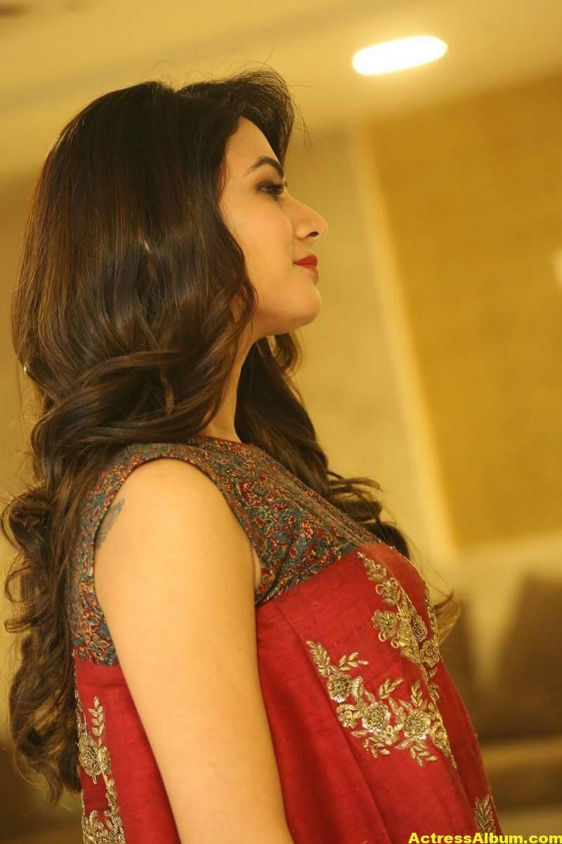 Sonal Chauhan Latest Stills In Beautiful Red Dress 9