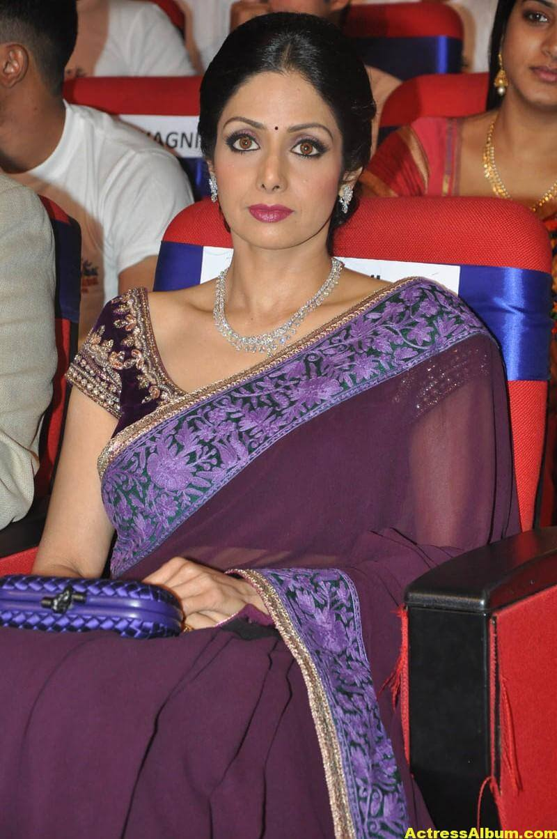 Sri Devi Latest Cute Stills In Colorful Maroon Saree 2