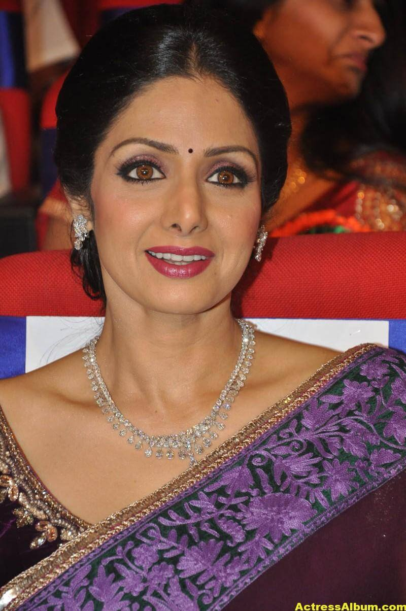 Sri Devi Latest Cute Stills In Colorful Maroon Saree 5