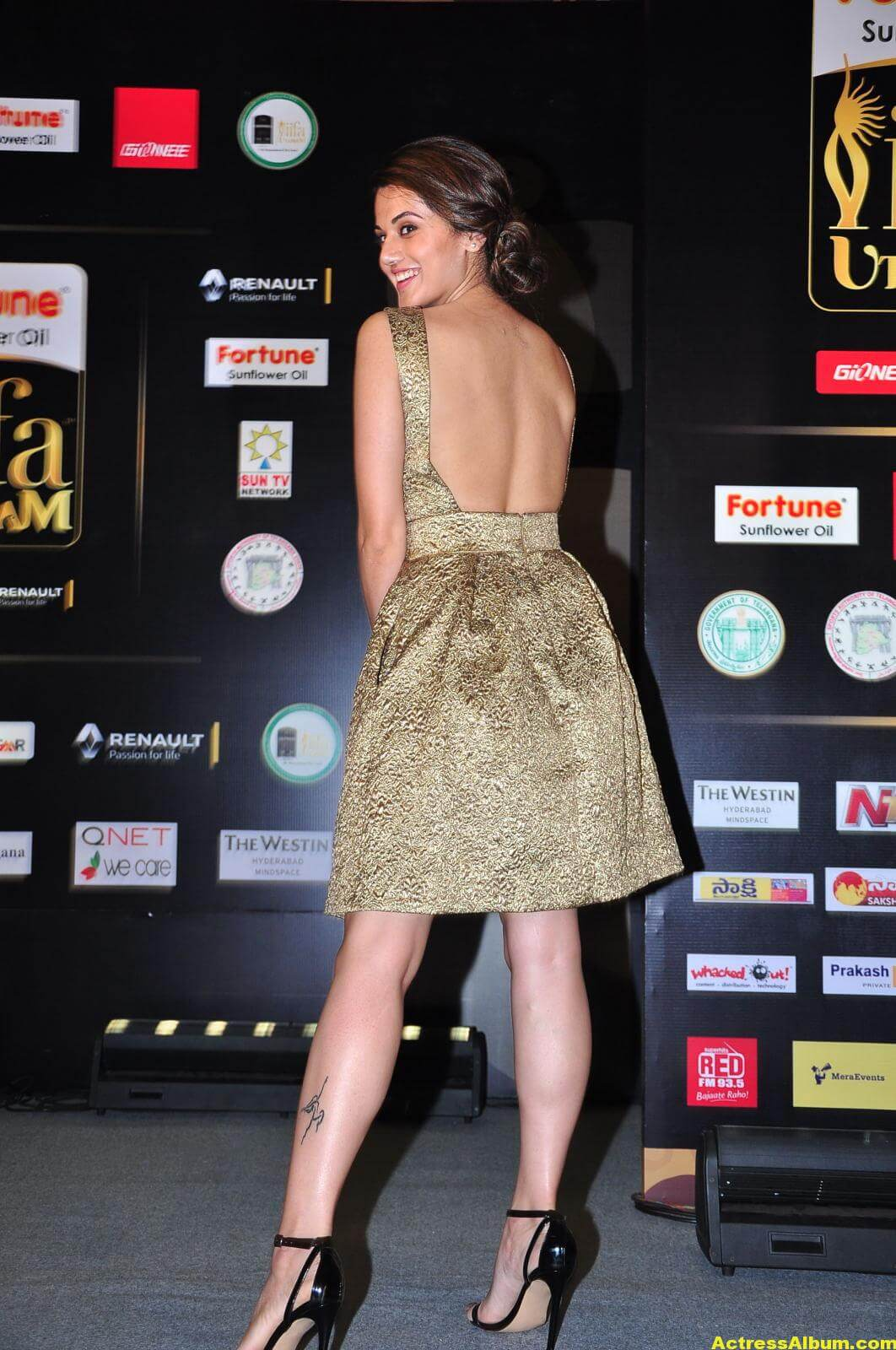 Taapsee Pannu Hot Images In Short Dress 1