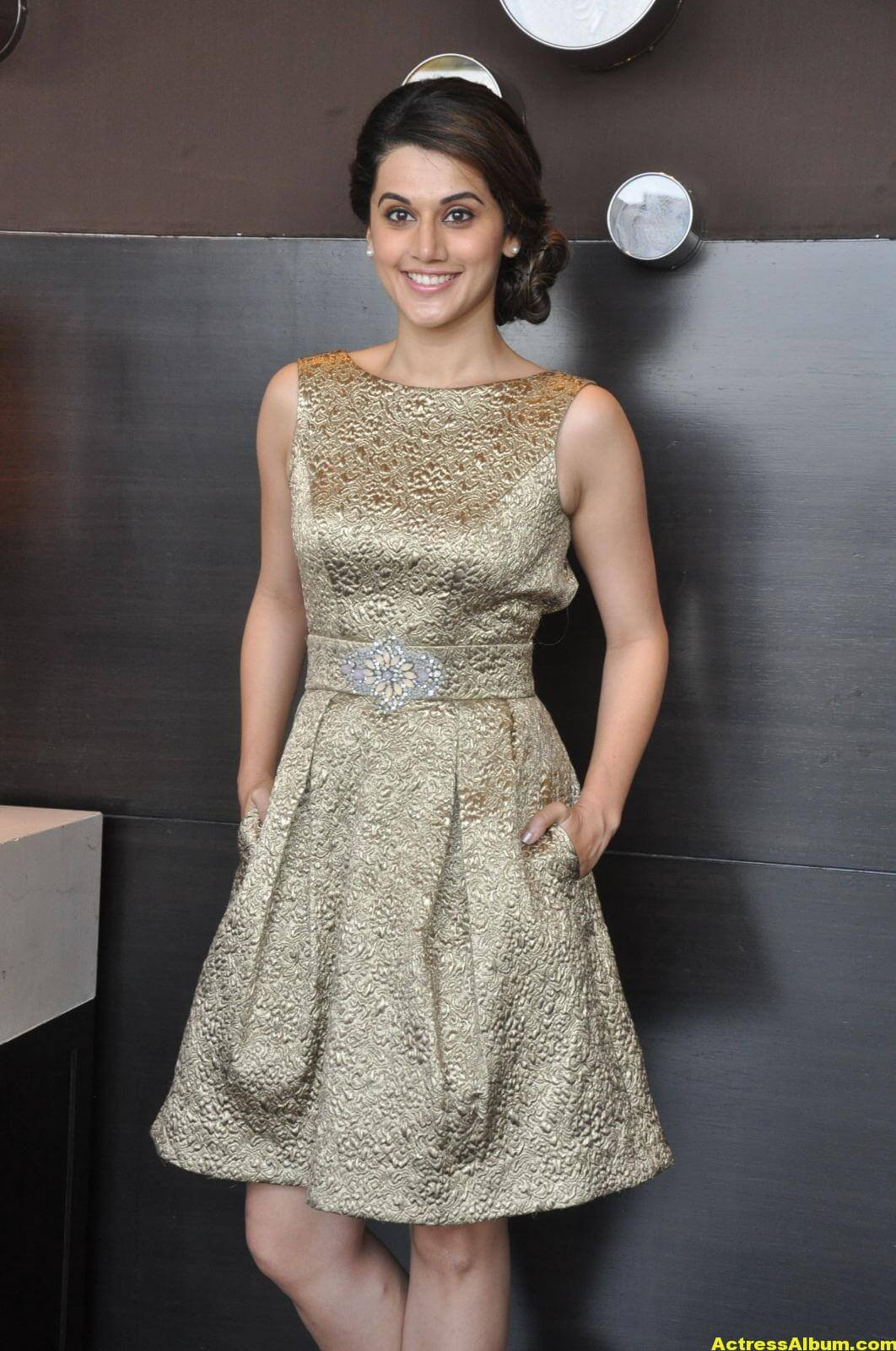 Taapsee Pannu Hot Images In Short Dress 2