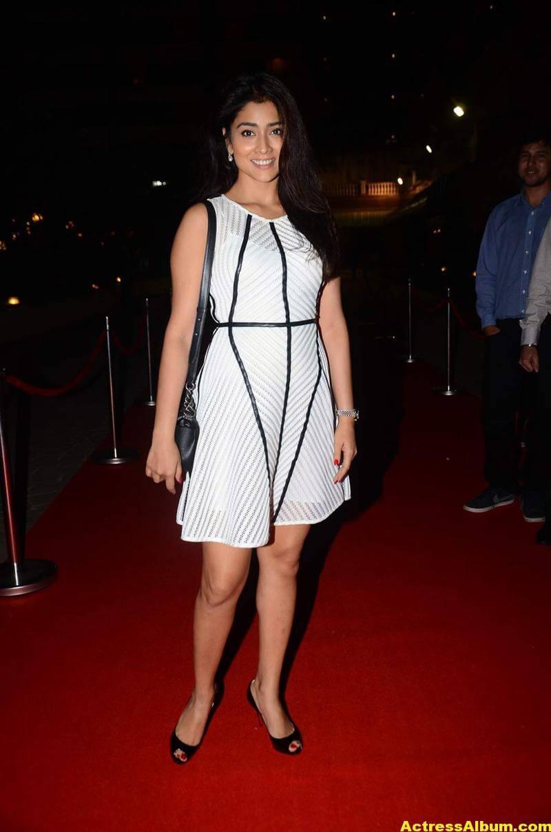 Tamil Actress Shriya Saran Photos In Spicy White Dress 7