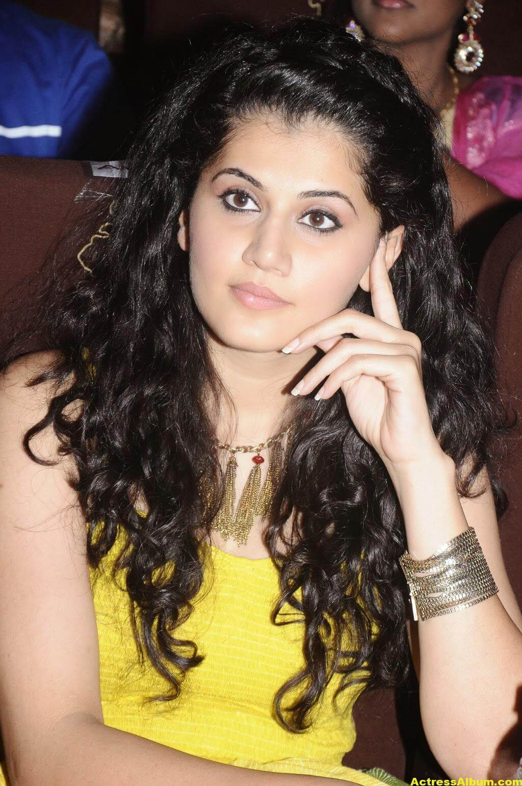 Tapsee Latest Hot Photoshoot Stills In Yellow Dress 1