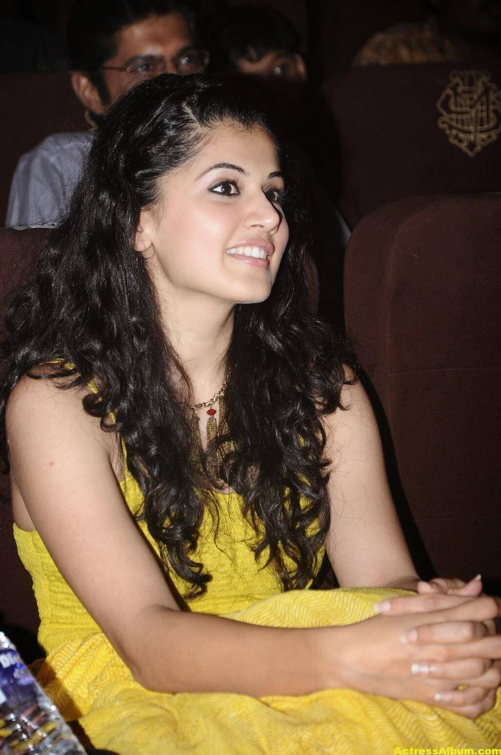 Tapsee Latest Hot Photoshoot Stills In Yellow Dress 4