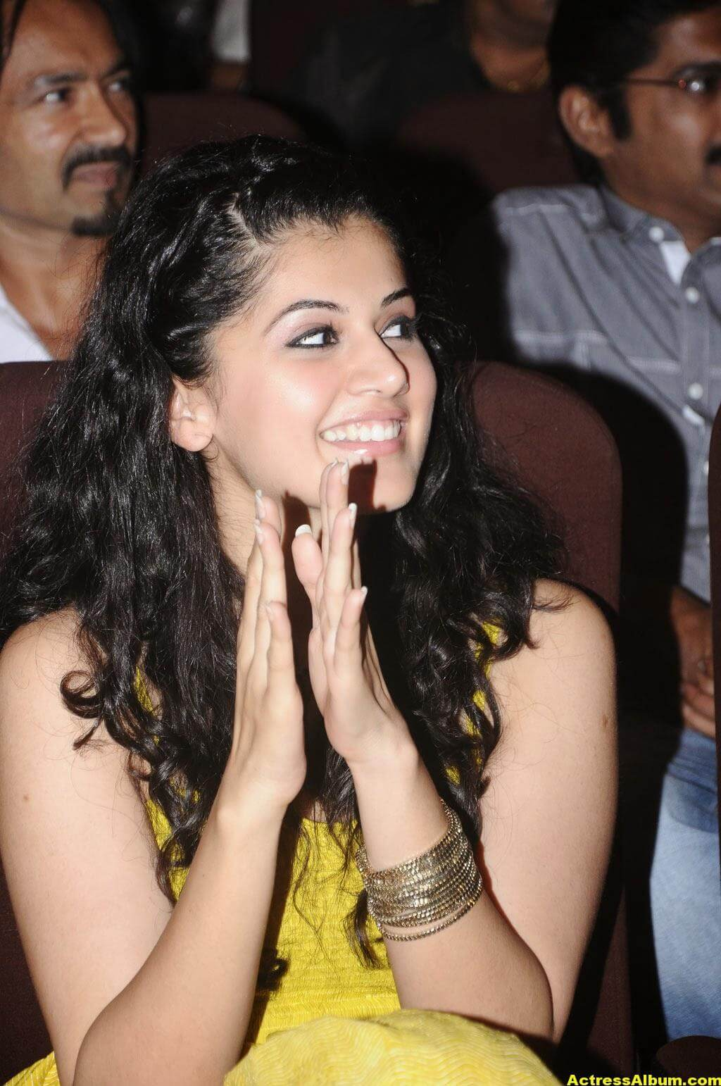 Tapsee Latest Hot Photoshoot Stills In Yellow Dress 5