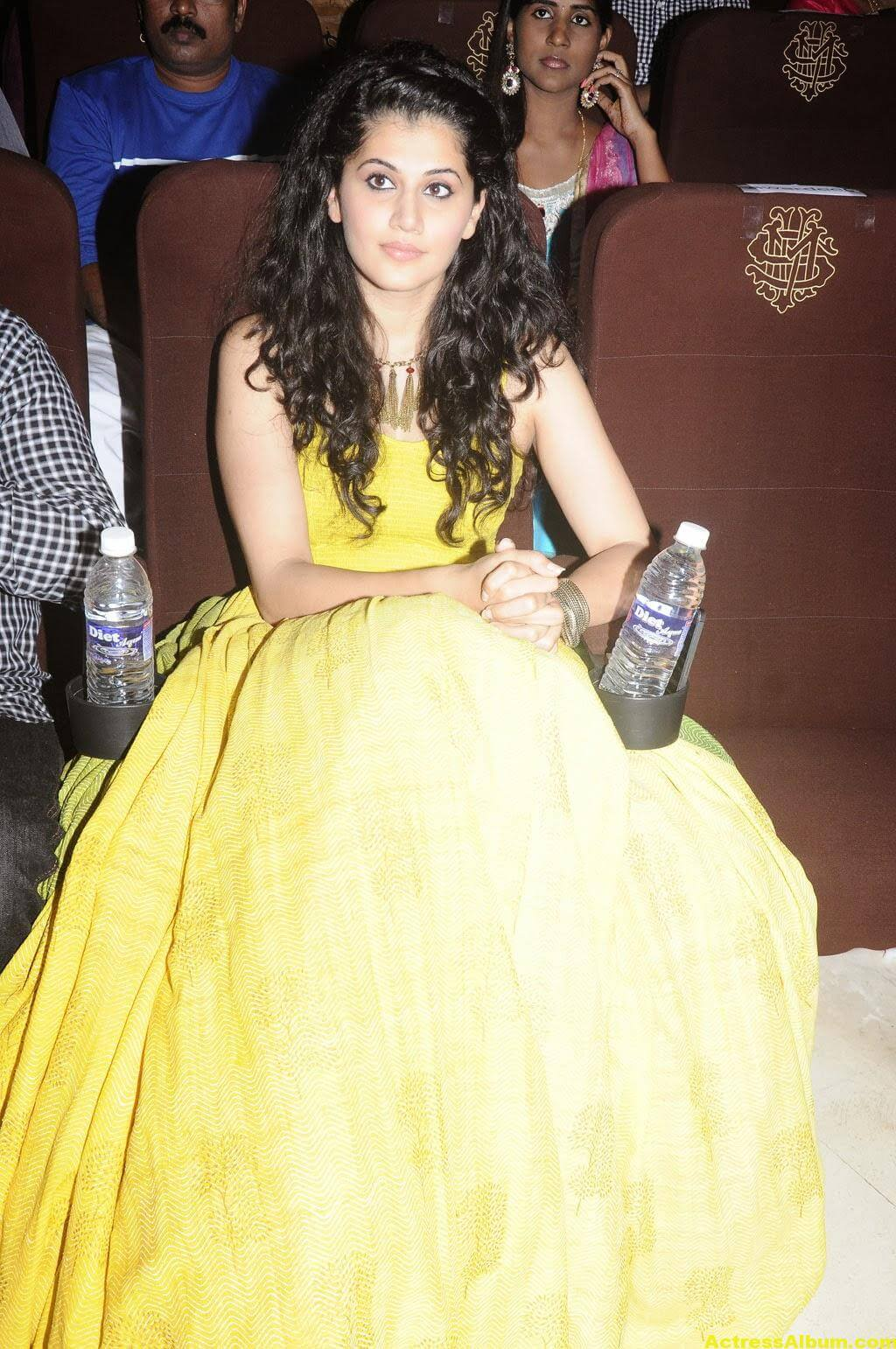 Tapsee Latest Hot Photoshoot Stills In Yellow Dress 6
