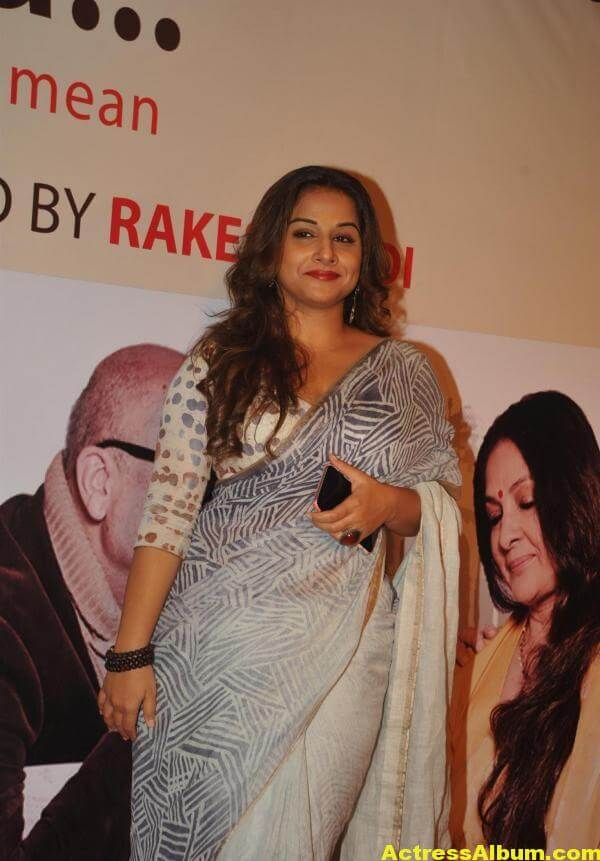 Vidya Balan Very Hot Beautiful Photoshoot In White Saree 5
