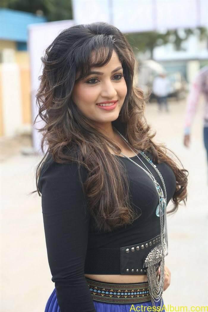 Madhavi Latha In Black Dress