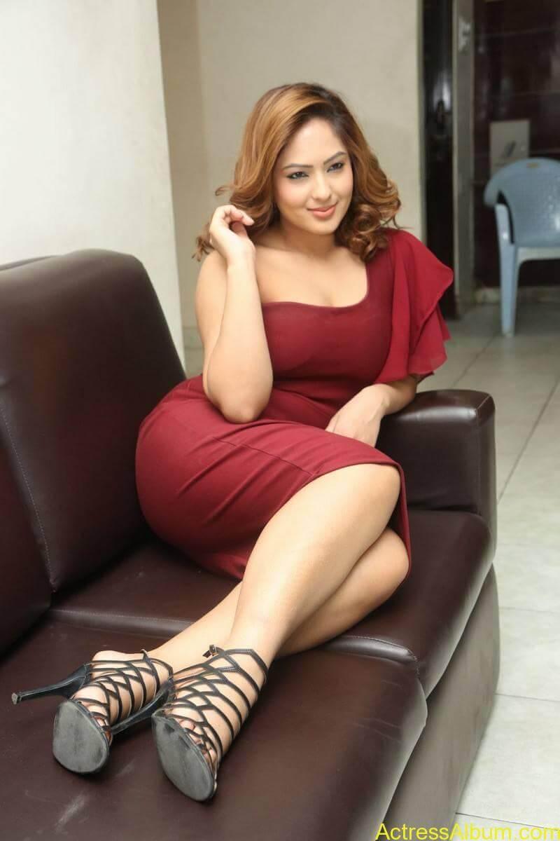 nikesha-patel-sizzling-stills-in-maroon-gown-1