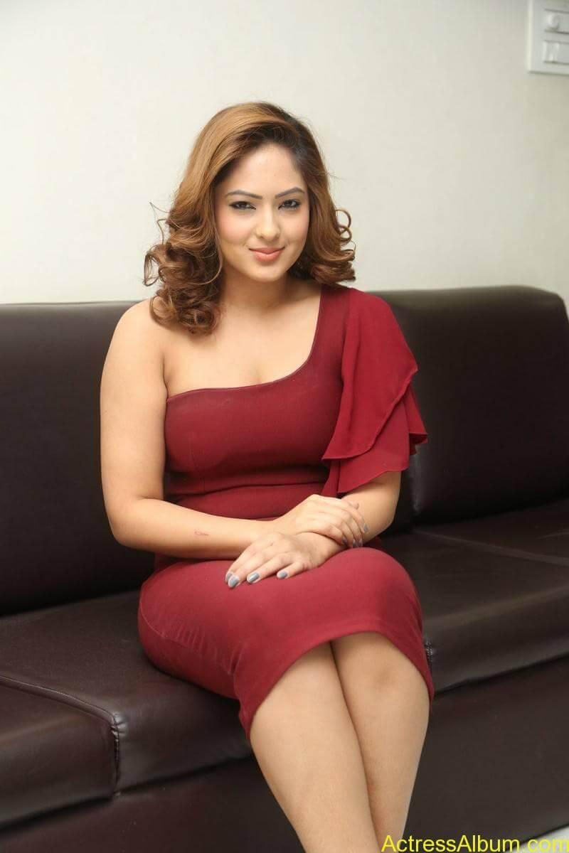nikesha-patel-sizzling-stills-in-maroon-gown-2
