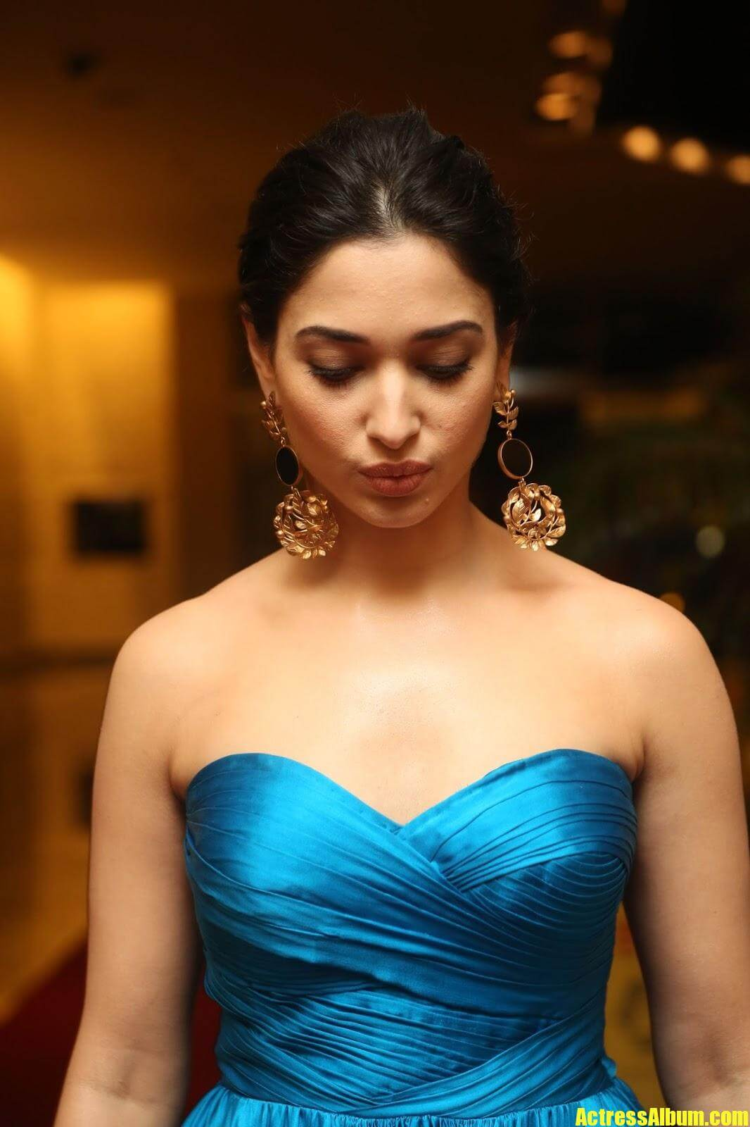 Tamanna Images In Blue Skirt