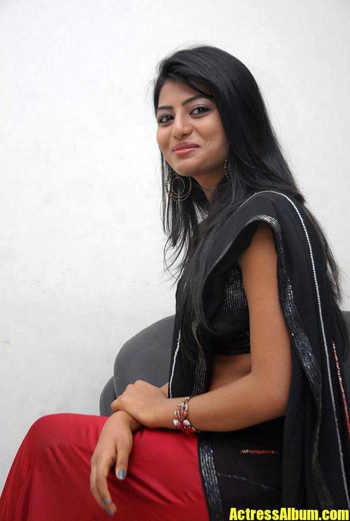 Actress Anandhi Photos In Black Half Saree Actress Album