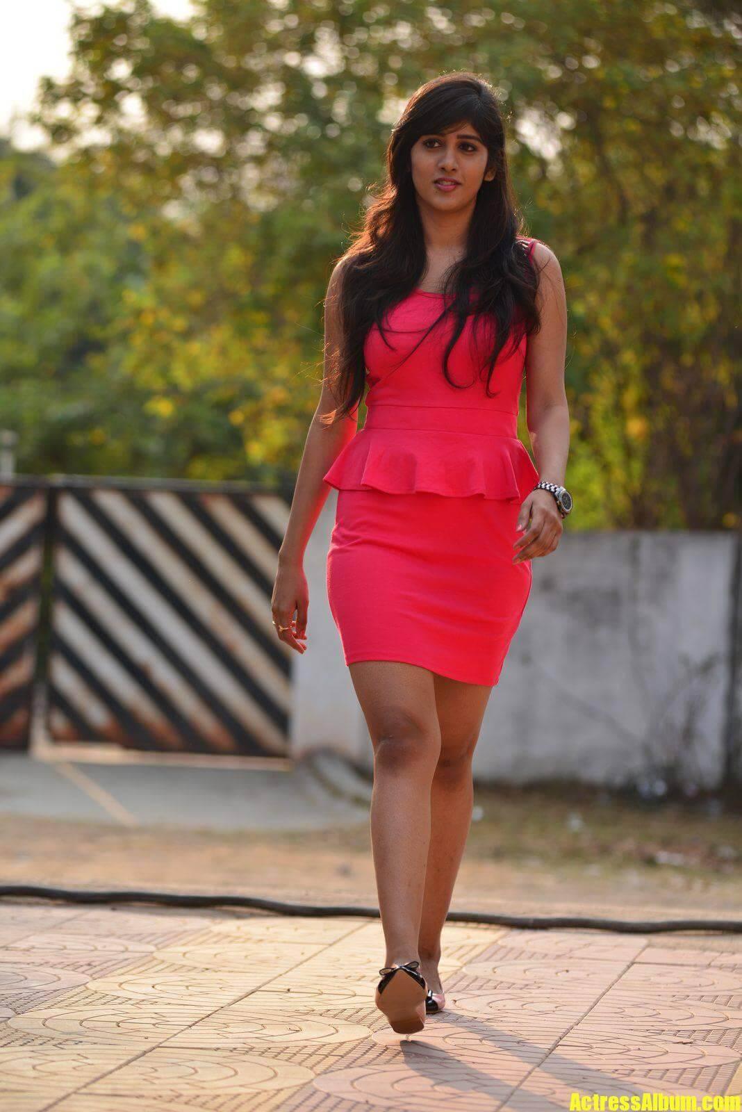 Actress Chandini Chowdary Long Legs Hot Stills-3200