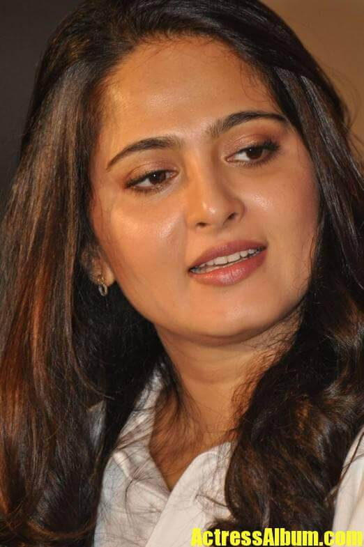 Anushka Stills In White Shirt