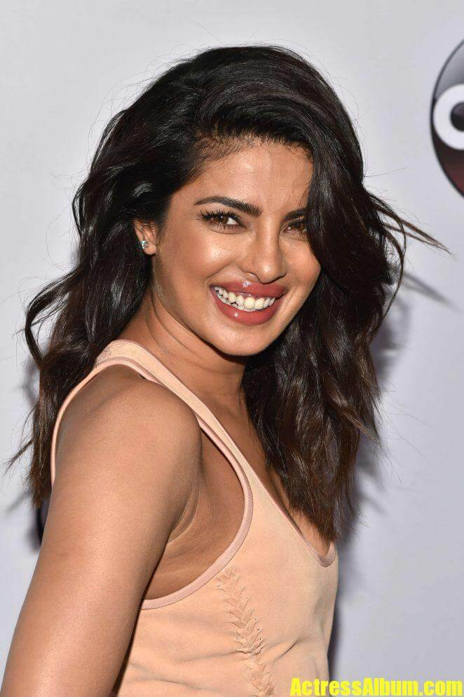 Priyanka Chopra Long Hair Stills In Pink Dress 3 -8583