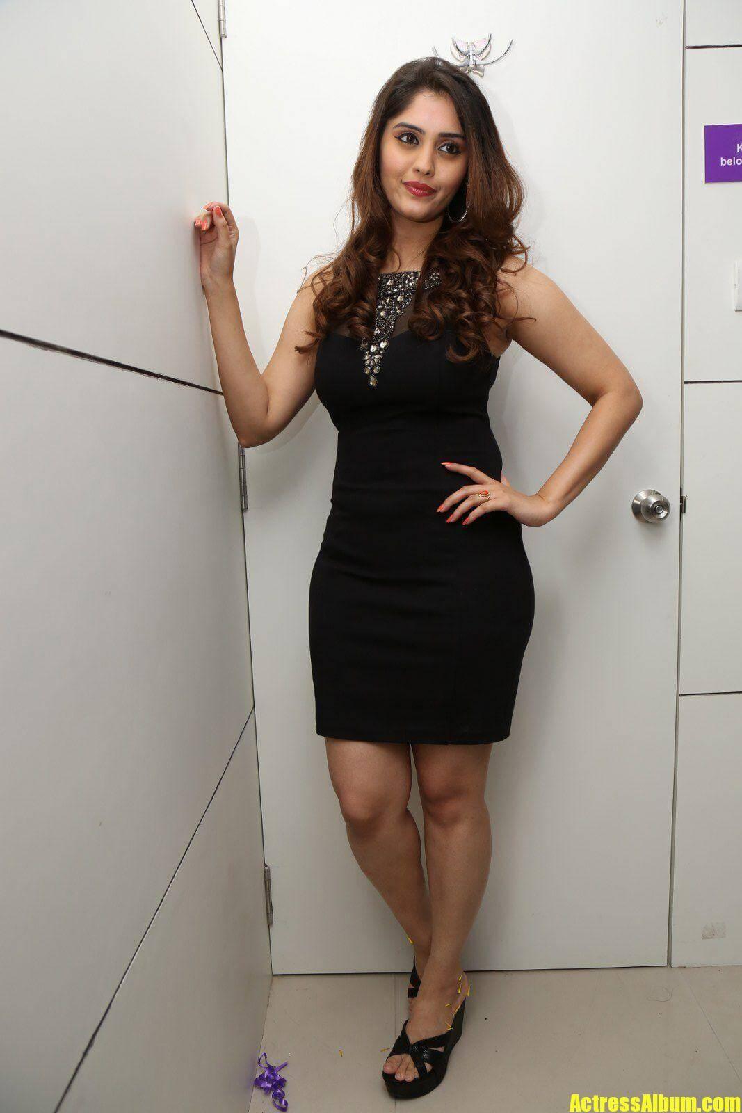 Surabhi Hot Legs Show Stills In Black Dress - Actress Album