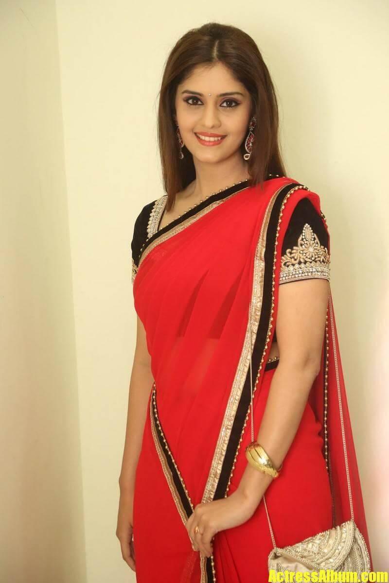 South Actress Surabhi In Red Saree