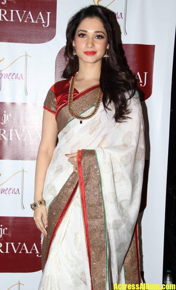 Tamanna Photos In White Saree