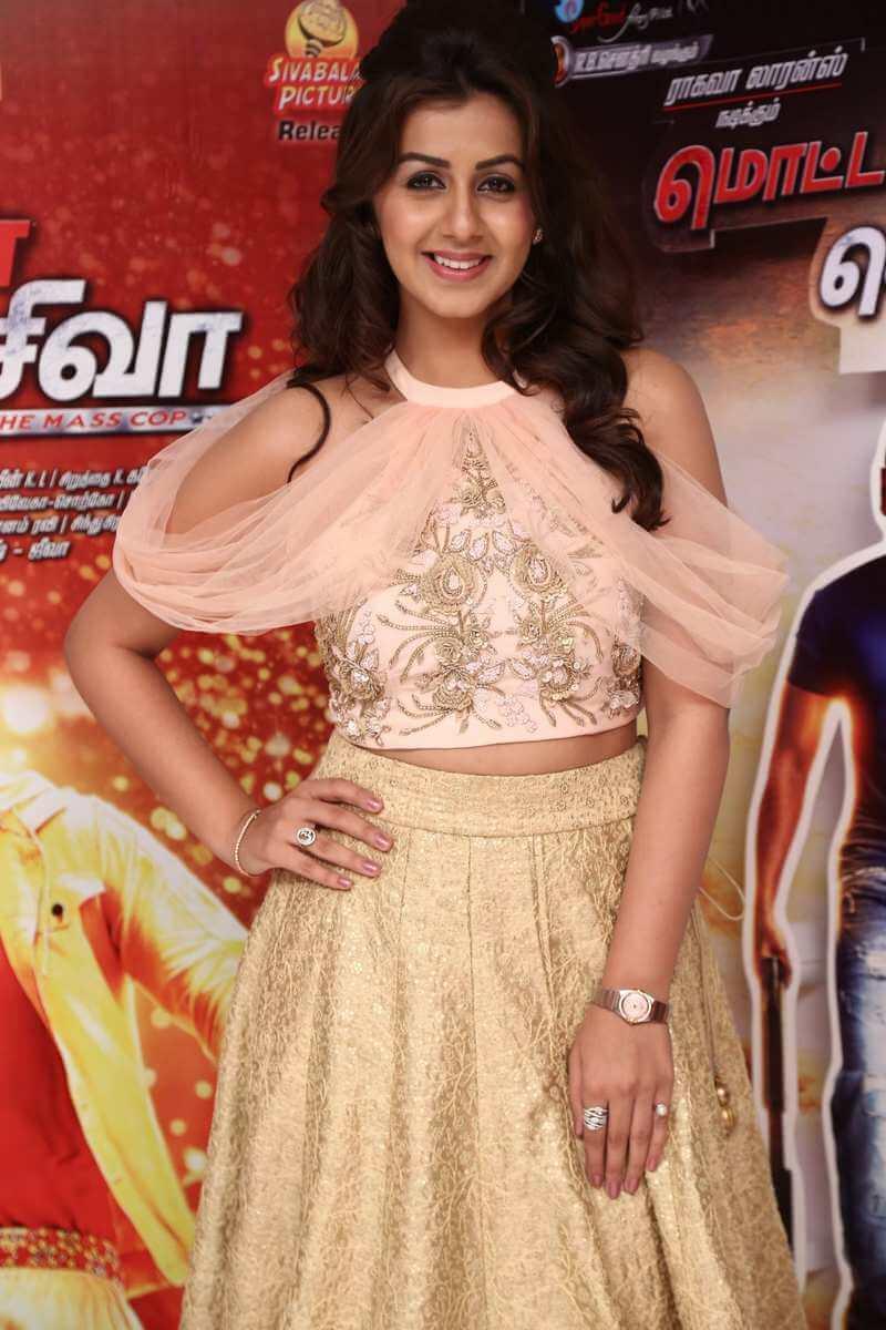 Actress Nikki Galrani Long Hair Photos In Pink Dress