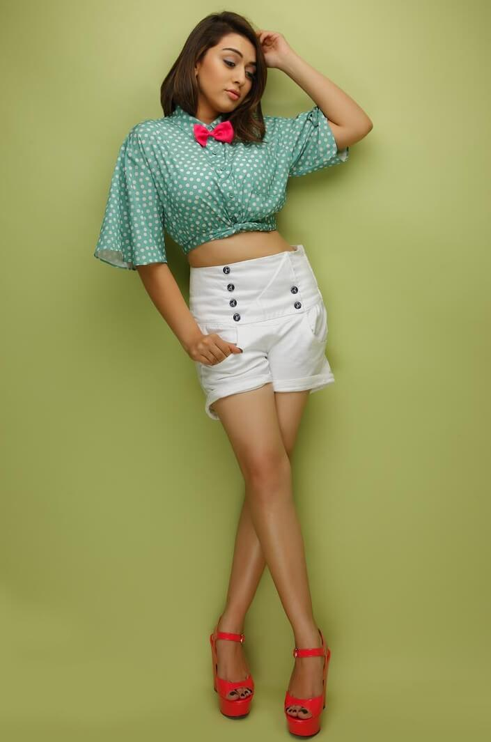 Hansika Motwani In Mini White Short