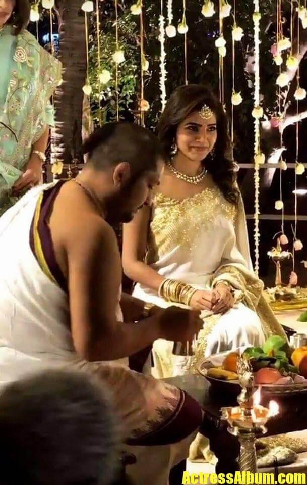 Actress Samantha Engagement Photos With Naga Chaitanya