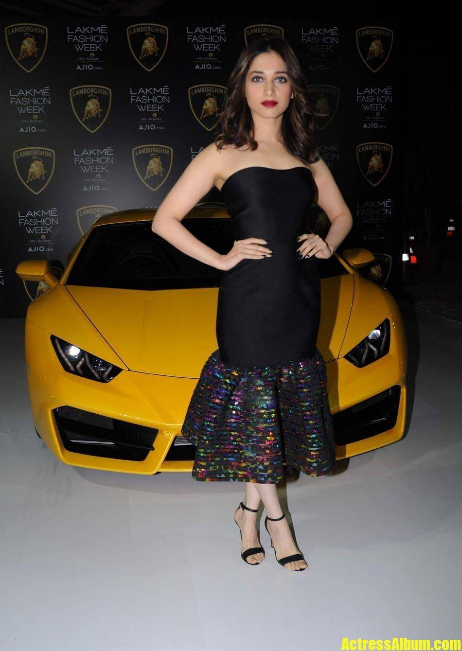 Actress Tamanna Stills at Lakme Fashion Week
