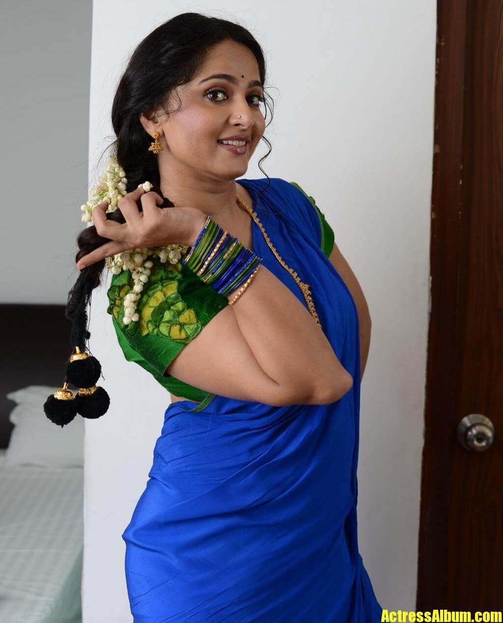 Anushka Shetty In Blue Saree
