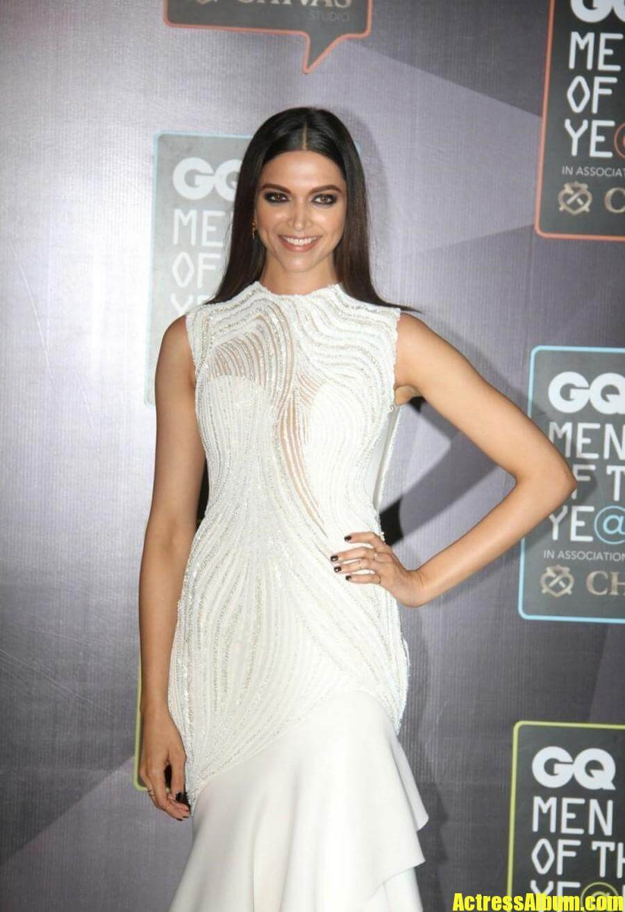 Hot Deepika Padukone Photos In White Gown - Actress Album