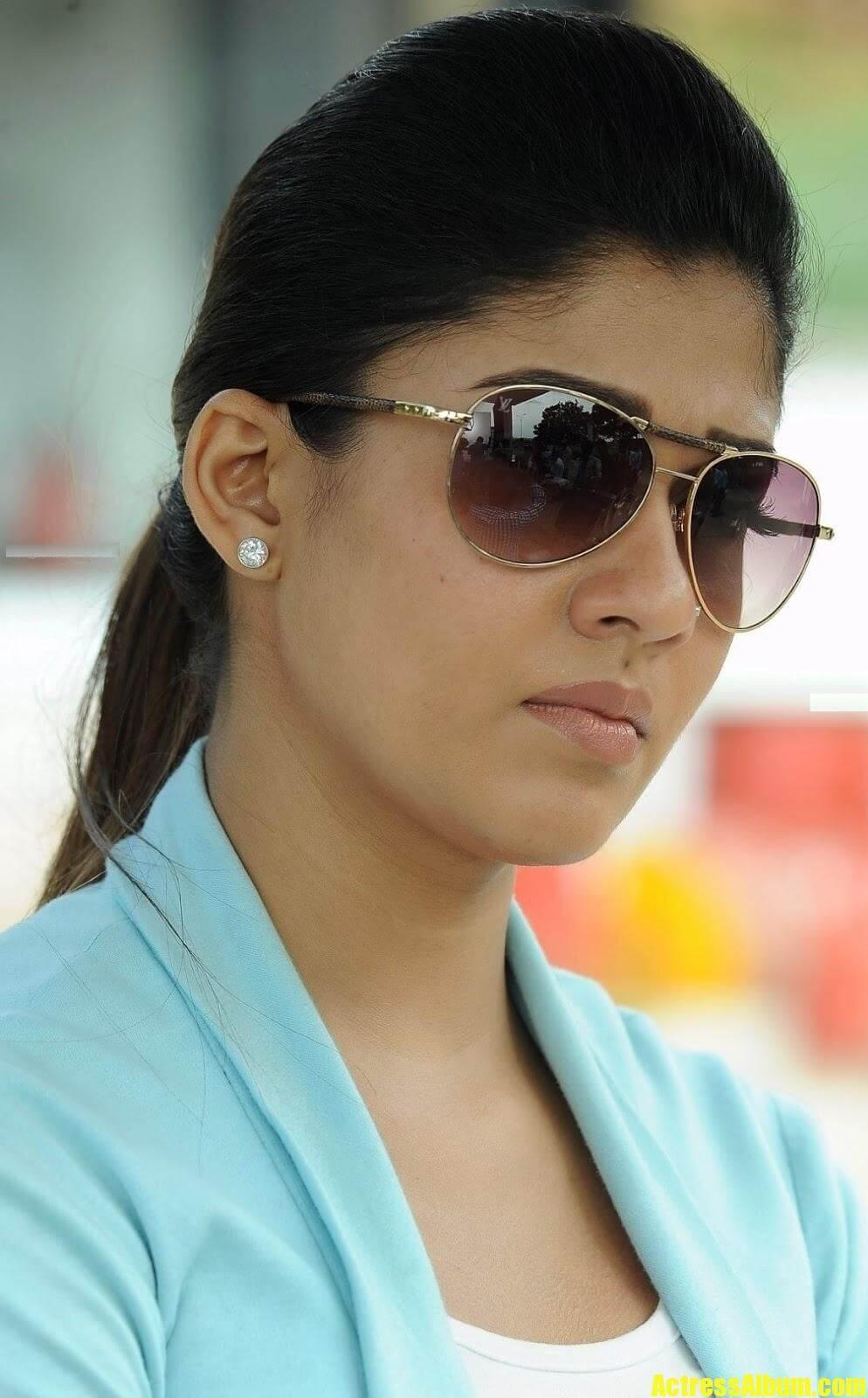 Nayantara Face Closeup Photos In Blue Dress Actress Album