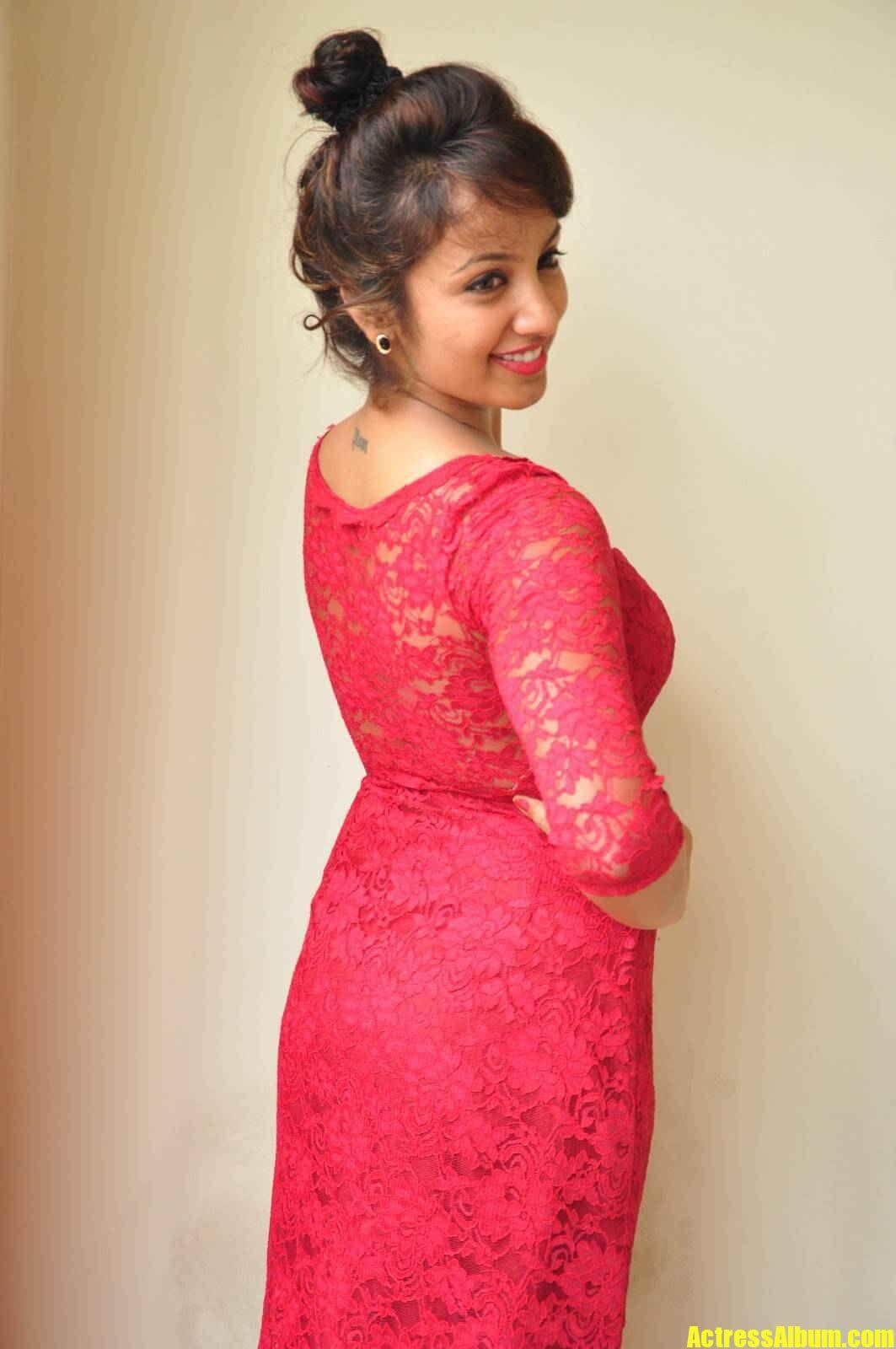 Actressalbum Com Telugu Actress Tejaswi Stills Maroon Dress Amrutha Valli Hot Photos