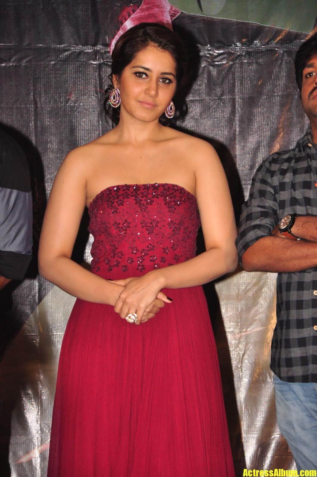 Rashi Khanna In Maroon Dress