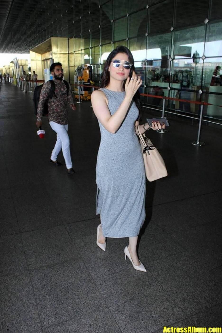 Tamanna Pics At Airport.
