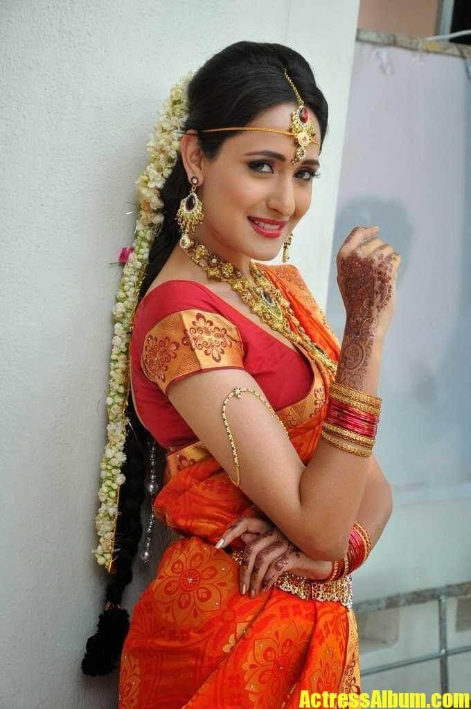 Telugu Actress Pragya Jaiswal In Traditional Dress